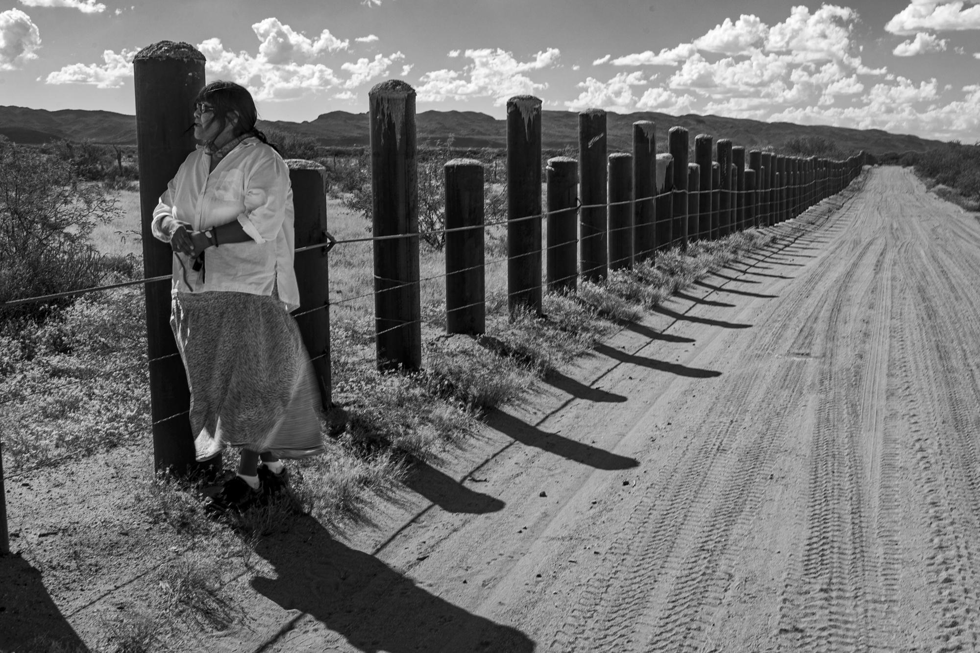 Ophelia Rivas at the Border Wall